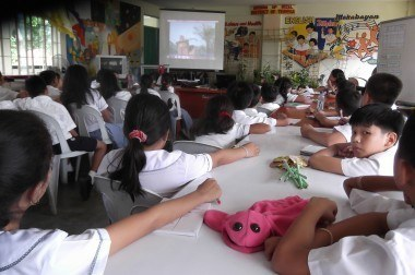 Watching Flood / Landslide before taking part in puppet-based activities to explore its messages more deeply