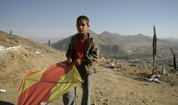 Learning about landmine safety, Afghanistan