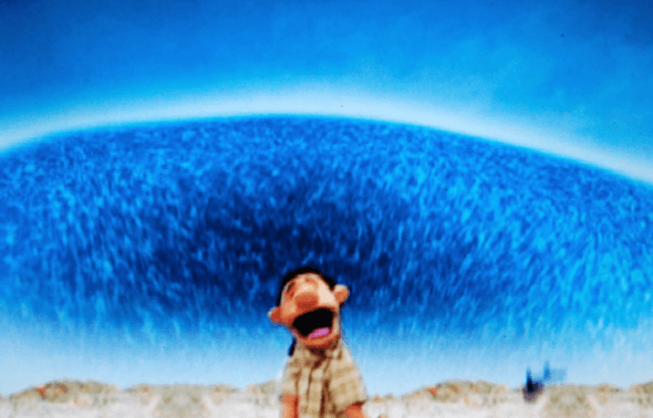 Scene from Tsunami, Tales of Disasters. Puppet films can provide a safer space to confront frightening issues than images portraying the full horror of the real thing