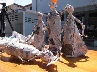 Trash Puppets made by looked-after children with disabilities in Port au Prince