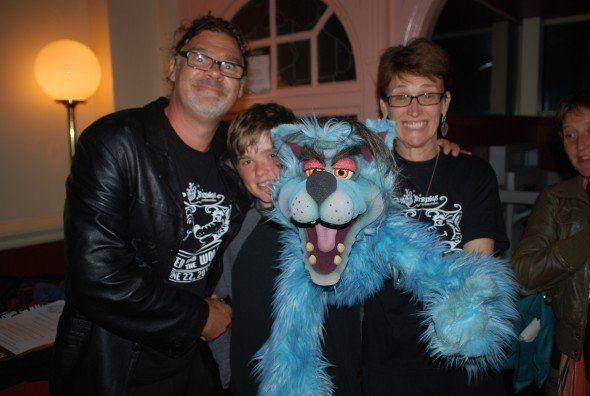Johnie McGlade, Wayne, Lisa Buckley, with an audience member
