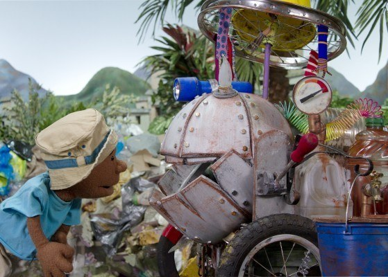 Scene from The Amazing Machine, a film about Water, Sanitation and Hygiene, and Solid Waste Disposal