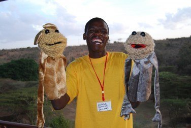 George Ochieng learnt his puppet skills at a No Strings workshop in Kenya