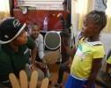 Sierra Leone. Bringing Mr Poo Poo to life