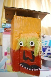 A beautiful hand-made puppet - the Marvellous Mr Latrine!