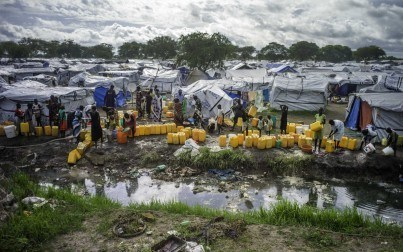 Mingkaman IDP camp, South Sudan, where communities are continuously at risk from cholera outbreaks. Credit: Oxfam