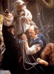 Kathy, Yoda, Frank Oz and Wendy Froud