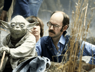Yoda with Kathy Mullen and Frank Oz. (c) All rights reserved, the Walt Disney Company