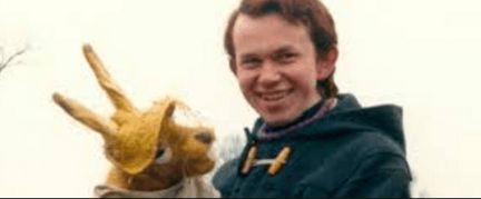 A young Nigel on set with Hartley