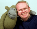 Nigel in a latter-day role with Monkey from the PG Tips ads