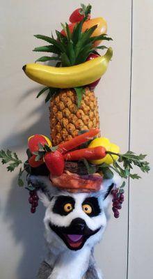 Lemur fruit hat