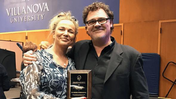 Rosie Waller and Johnie McGlade of No Strings International at the Villa Nova award ceremony